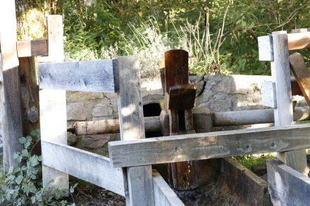 Sogar das alte Mühlrad an der Radniger Mühle dreht sich wieder.