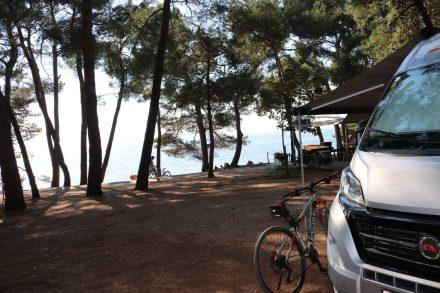 Schöne Aussichten von meinen Stellplatz auf dem Camping Pineta.