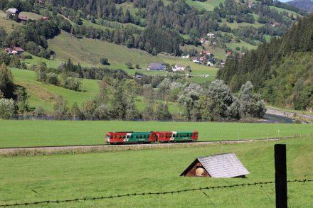 Die Murtalbahn im Einbahnverkehr.