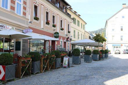 Der Kirchplatz in Hermagor.