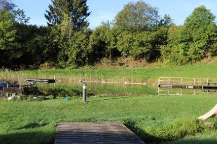 Das Naturschwimmbad in Radnig wird vom Radniger Bach gespeist.