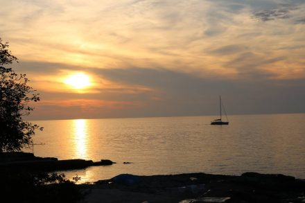 Sonnenuntergang an der istrischen Küste.
