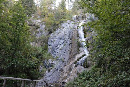 Der Jadersdorfer Wasserfall plätschert ganzjährig in die Tiefe.