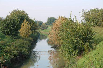 Einer der zahlreichen Kanäle, die das Po Delta mit dem Hinterland verbinden.