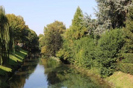 Der Sile umschließt Treviso mit einem Wassergraben.