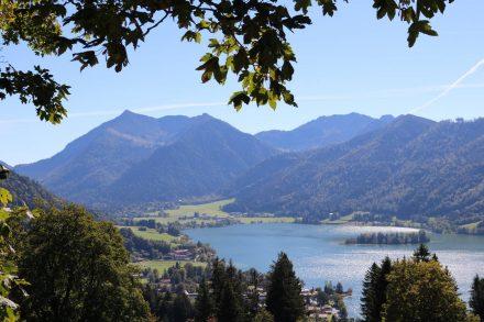 Herbst Wohnmobil-Reise zum Wandern an den Schliersee