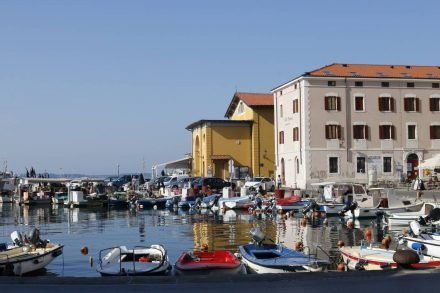 Kleiner Hafen Piran.