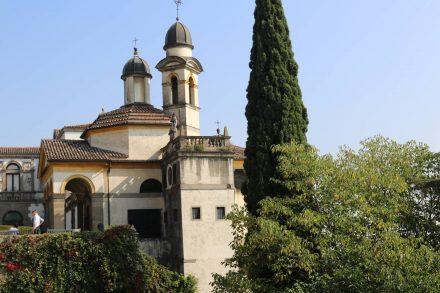 Das Heiligtum im Heiligtum mit traumhaftem Ausblick über Monselice.