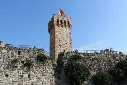 Vom Castell Carrese in Este sind nur noch Festungsmauern und Türme erhalten.