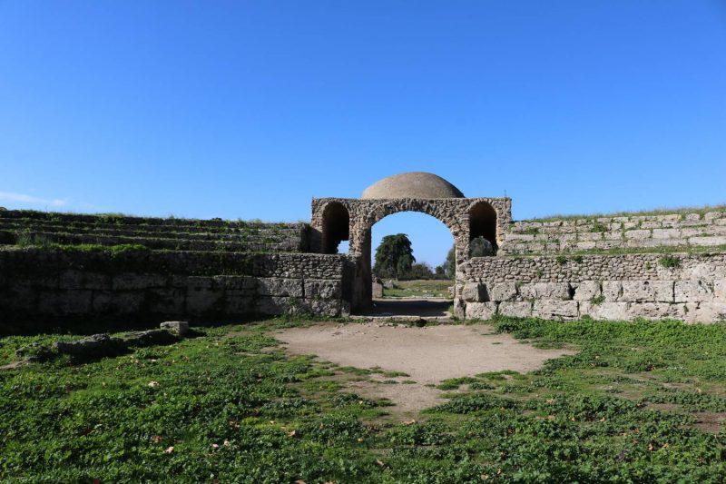 Das Amphitheater ist nur noch teilweise erhalten