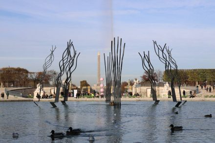Durch den Jardin du Carrousel mit Blick auf den Obelisk.
