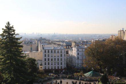 Blick von Sacre Coeur über Paris.