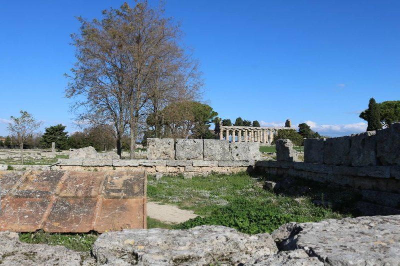 Das ursprüngliche Heldenhaus wurde von den Römern verschüttet.