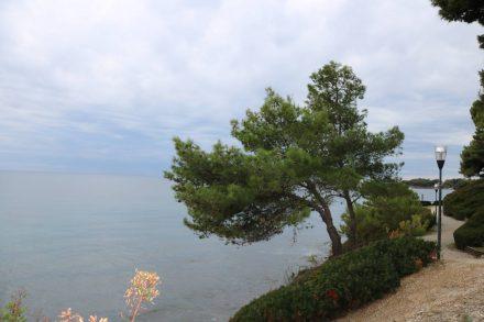 Am Parkplatz in Oligastro Marina beginnt ein hübscher, kleiner Park mit Meerblick.