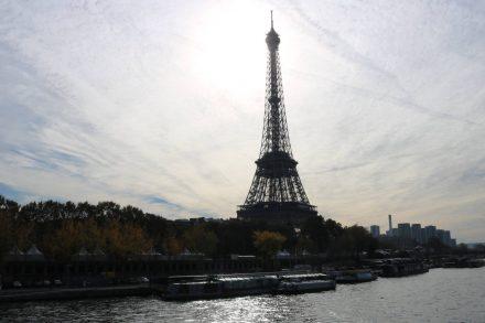 Der Blick von der Pont de l'Alma.