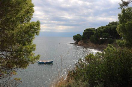 Das Kap der Sirenen zwischen Punto Licosa und San Marco.