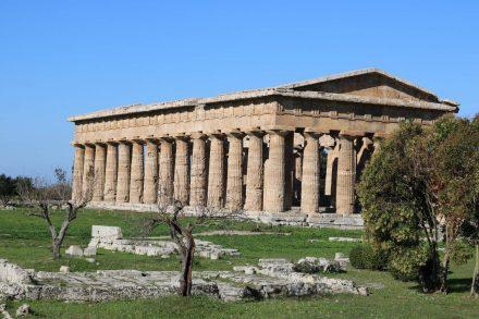 Erster Blick auf den Poseidon Tempel.