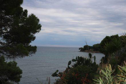 Das Kap der Sirenen - recht einsam im November.