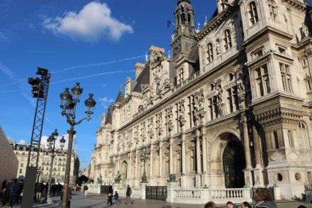 Das Rathaus mit seiner wunderschönen Fassade.