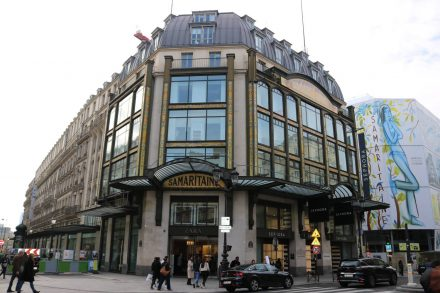 Das Kaufhaus Samaritaine mit seiner wunderschönen Art Deco Fassade.