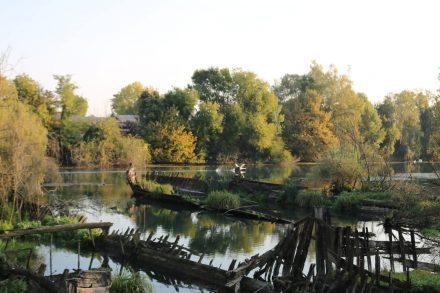 Der Friedhof der Lastkähne in Silea.