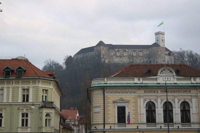 Die Burg von Ljubljana.