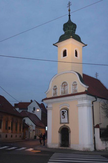 Eins der vielen putzigen Kirchlein in Zagreb.
