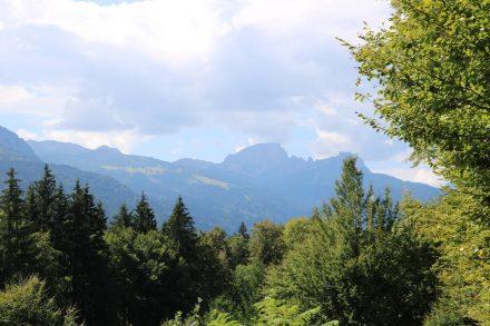 Herrlicher Blick auf die gegenüberliegende Bergkette im Gailtal.