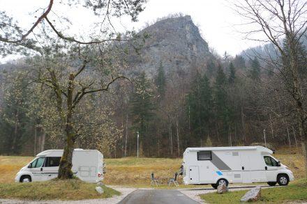 Noch freie Auswahl am viereinhalb Sterne Campingplatz in Bled.