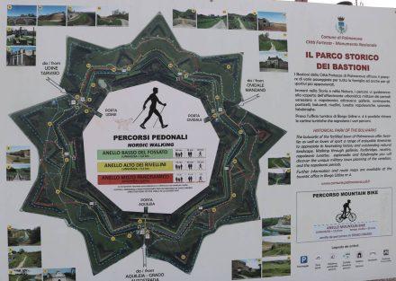 Rund um die Sternstadt Palmanova kann man Spazieren, Joggen oder auch Biken.