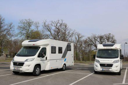 Der Sun Living SL75 und der Adria Compact auf Reisen.
