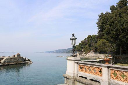 Der kleine Hafen im Schloss Miramare ist wunderschön angelegt.