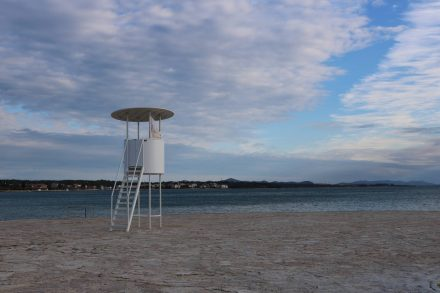 Der Ausguck in Richtung Zadar und Kornati Inselgruppe.