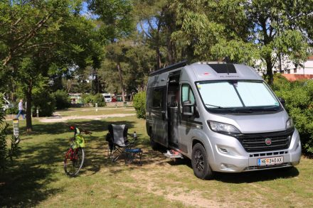 Mein Camper-Van am Campingplatz Zaton bei Zadar.
