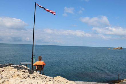 Die Plätze am Sunset Beach sind auch bei Tag sehenswert.