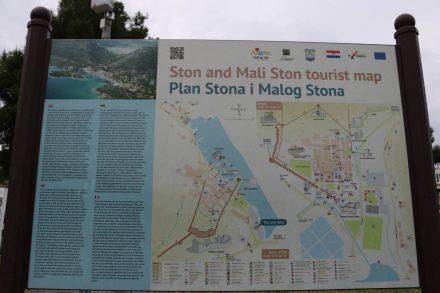 Der Plan von der Festungsanlage Ston bei Dubrovnik.