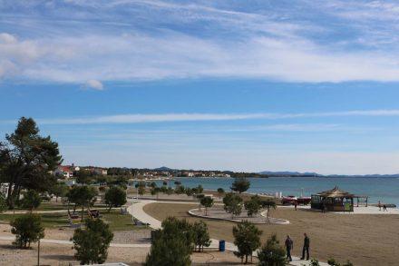 Der Campingplatz Zaton liegt direkt am Meer und ist fast wie ein kleines Dorf.