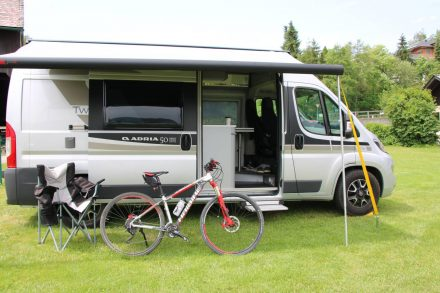 Mein Adria Twin Campern am Campingplatz Oitner.