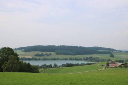 Der Radweg am Süd-Ost-Ufer des Mattsees ist ziemlich hügelig.