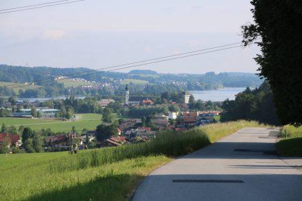 Blick zurück von Kölnern auf den Obertrumer See.