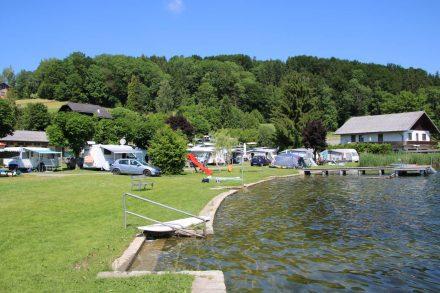 Der kleine, nette Camping Oitner liegt bei Obertrum am Obertrumer See.