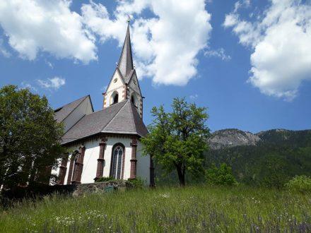 Die Kirche von Laas in Kärnten.