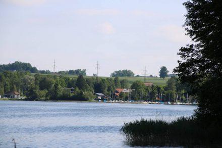 Bootshafen in Matzing am Wallersee.