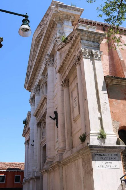 Das wunderschöne Portal der Kirche San Francesco.