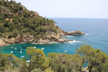 Die idyllischen Buchten entdeckt man von den Aussichtspunkten entlang der Küstenstraße nach Tossa.