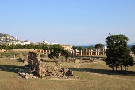 Die Festungsanlage Ciutadella in Roses an der Costa Brava.