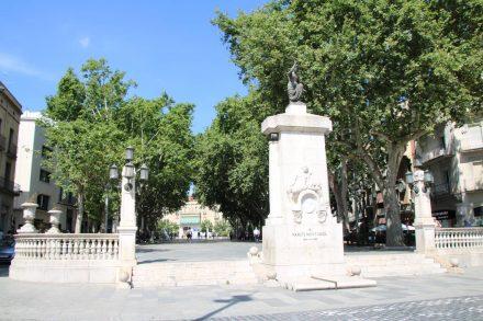 Die Ramblas in Figueres sind der Eingang zur Stadt.
