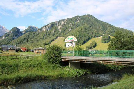 Die Brücke über die Save an der Bundesstraße nach Jesenice.