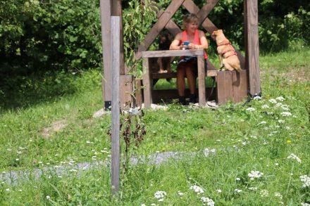 Ende der Wanderrunde am Sport- und Spielplatz von Kranjska-Gora.