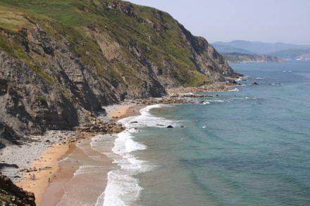 Erster Blick auf den Golfo Norte Strand mit der gesamten Küstenlinie.